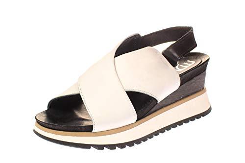 Mjus 912005-501-0001 - Damen Schuhe Sandaletten - Bianco-Nero, Größe:39 EU