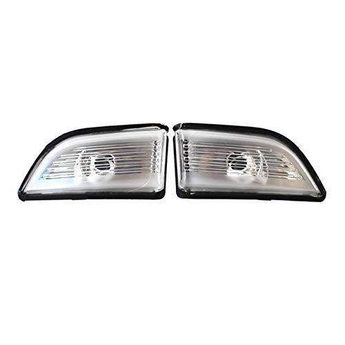 RJJX Auto Rückspiegel Blinker Seitenspiegel-Licht-Indikator Abdeckung gepasst for Volvo XC60 2009-2013 (Color : White)