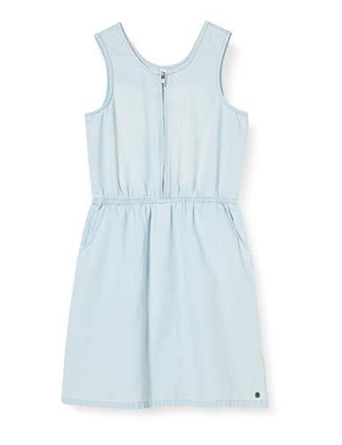 ESPRIT KIDS Mädchen RQ3401503 Dress Kleid, Blau (Bleached Denim 413), 152 (Herstellergröße:M)