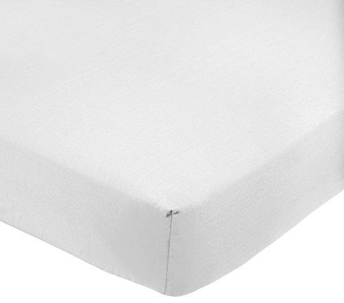 Amazon Basics AB 200TC Poly Cotton, Combinación de algodón, Blanco, 160 x 200 x 30 cm