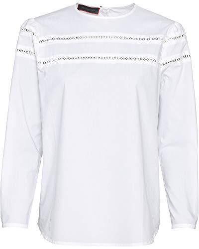 Reitmayer Bluse mit Spitze Weiß 34