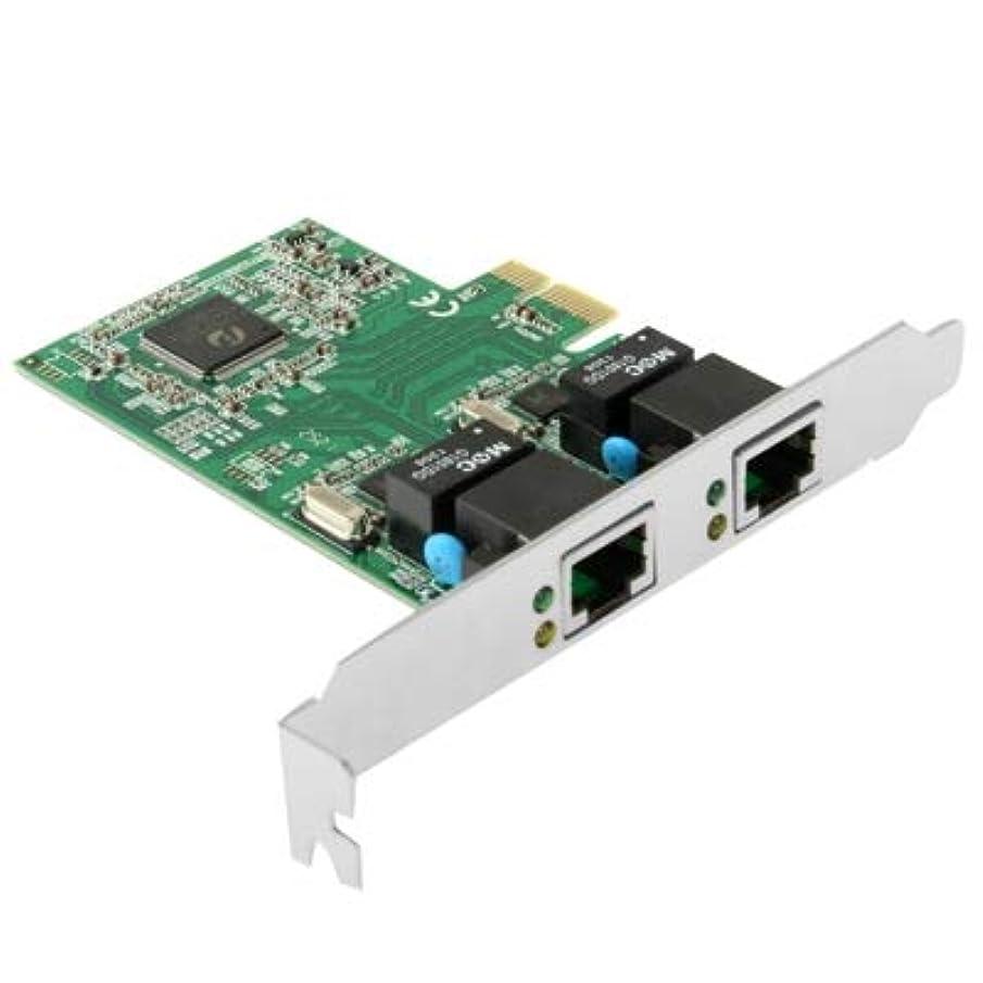 敵意バルーン孤児WTYDコンピューターアクセサリー PCI-Expressデュアルギガビットイーサネットコントローラカードアダプタ2ポートRJ45 10/100/1000 BASE-T コンピューターに使用
