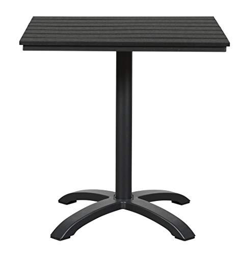 Bistrotafel Allie balkontafel 70x70 polywood tuintafel terras tafel zwart