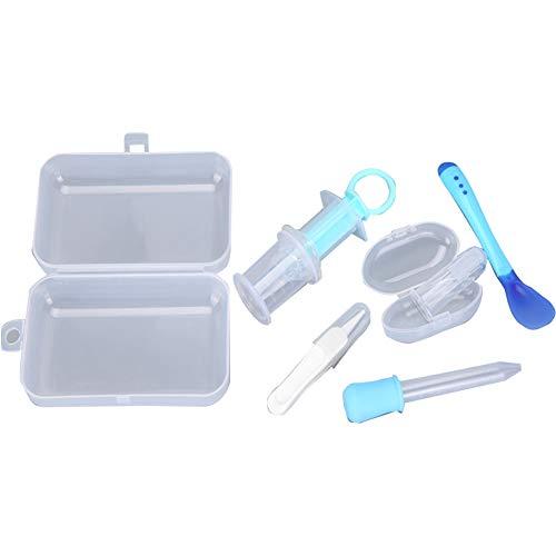 5PCS / Set multifunzionale Nursery Care Kit Vario USO Bambino Health Care Tools Bambino pulizia personale Tools Con Container Blue Box