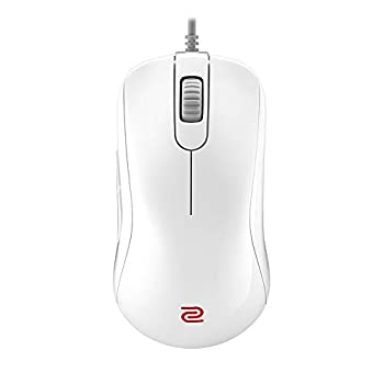 BenQ Zowie S2 Symmetrical Gaming Mouse for Esports White Edition | Professional Grade Performance | Driverless | Glossy Coating | Small Size
