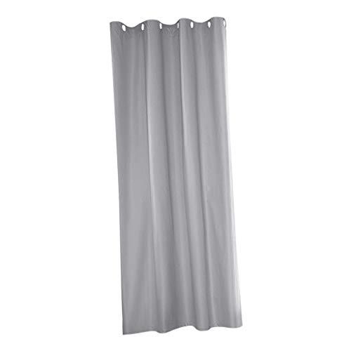 Amuzocity Wide Outdoor Curtain Panel Patio Deck Pergola Cabana Blackout Drape UV Privacy - Gray_54x84inch