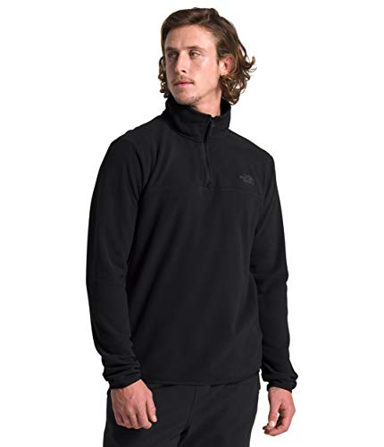 The North Face Men's TKA Glacier ¼ Zip, TNF Black/TNF Black, M