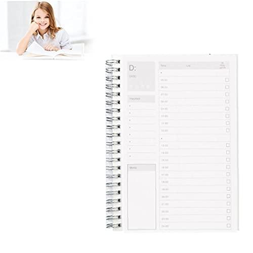1 PC Planner giornaliero con griglia temporale per sano Efficienza di lavoro Manuale Planner Planner TimeBook Notepad Regular Life Records, Forniture stazionarie