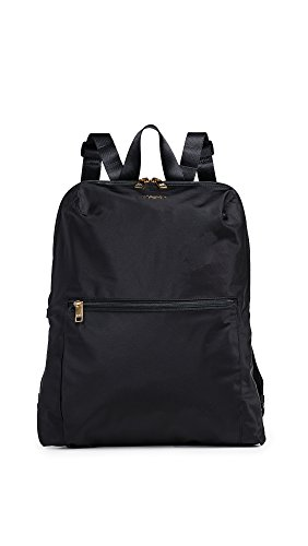 """EXTERNAL FEATURES: Double-zip entry to main compartment; zip front pocket; top grab handle; adjustable backpack straps; add-a-bag sleeve MATERIAL: Nylon DIMENSIONS: Dimensions in inches: 15.5"""" x 12.3"""" x 4.5""""; Shoulder strap: 34""""; Handle drop: 2.8""""; W..."""