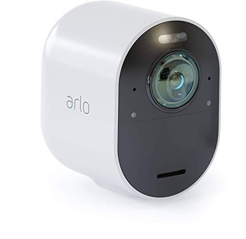 Arlo Ultra 4K UHD Wireless Smart Home Security Add-on Camera and light - Rechargeable, Wire-Free, Audio, Indoor/Outdoor, Night Vision, [Base Station not Included] - VMC5040
