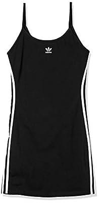 adidas Originals womens Spaghetti Strap Dress Black/White Small