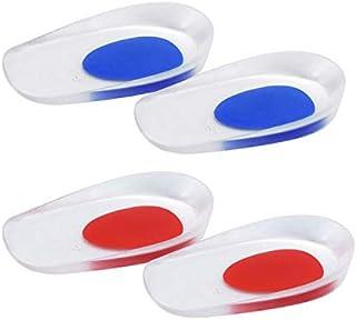2 PCS Taloneras de Silicona, Almohadillas de Gel Taloneras Fascitis Plantar para Hombre Mujer