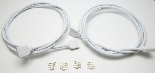 2x 100cm–RGB Cable de conexión/cable alargador–4pines Mir Conector y uniones–Garantía––Conector distribuidor–Tira LED–retroiluminación...