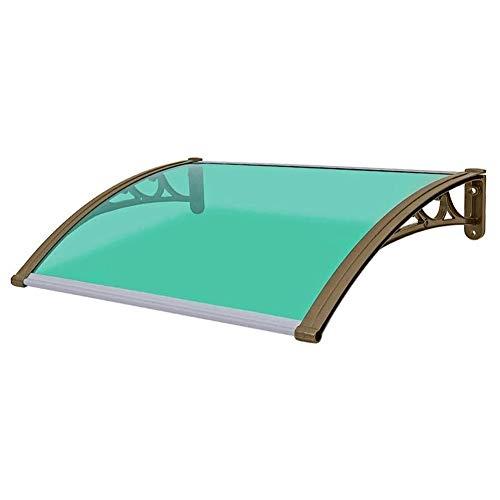 Vordach Überdachung Pultvordach Haustürvordach Durchgehend Transparent Pultbogenvordach Türvordach Haustürdach Pultvordach Sonnenschutz Regenschutz (Color : Green, Size : 60×80cm)