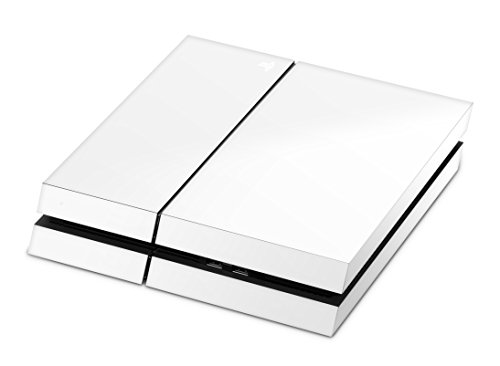 Skins4u Playstation 4 PS4 Skin Design Folie Sticker Set - Solid State White [Video Game]