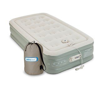 Aerobed Premier Antimicrobial Double High Twin 16' High ( Inflated Dimensions: 74 x 39 x 16 in. ) With Built-In Pump