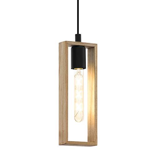 EGLO 49473 lámpara colgante, 60 W, Negro