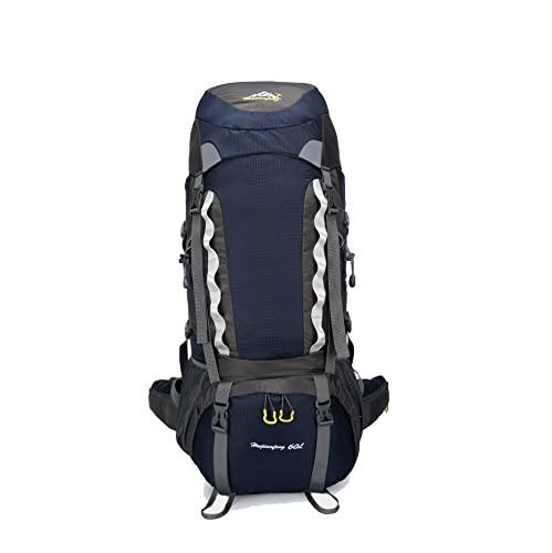 LZJDS Pista de Senderismo Empacable Daypack 60L Capacidad Grande Capacidad Mochila portátil para Mujeres,Púrpura