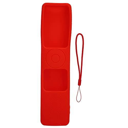 minifinker Protector de Control Remoto, Funda de Silicona para Control Remoto, Lavable y Duradero, anticaída con cordón para Control Remoto de TV Xiaomi 4S(Red)