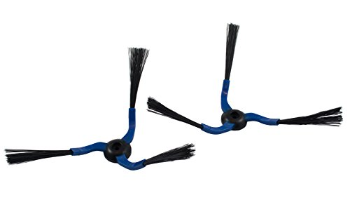 Hannets® Jeu de 2 brosses latérales pour aspirateur Navibot