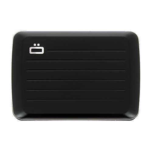 Ögon Smart Wallets - Cartera de aluminio Stockholm V2 - Cierre de metal -Tarjetero RFID antirrobo - Capacidad 10 tarjetas y billetes - Negro