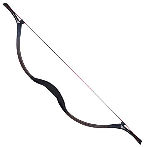 TOPARCHERY Handmade Horse Leather Hide Recurve Bow Tradizionale Longbow Mongolo Horsebow 20-50 libbre (30)