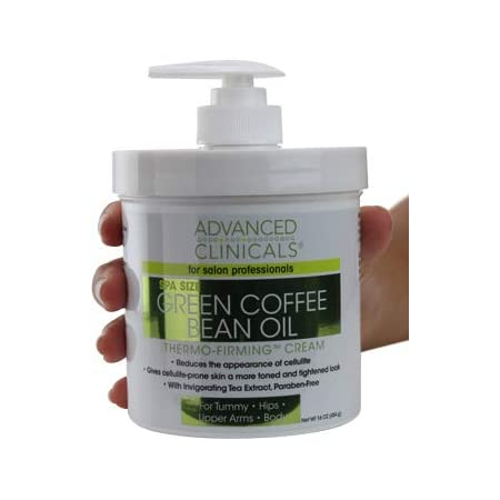 Green Coffee Bean Slimming Cream Moisturizing Anti-Cellulite Cream and Firming Lotion for Legs, Arms, and Body Antioxidant-Rich, Anti-Aging Tightening Cream by Advanced Clinicals (16oz)