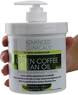 Advanced Clinicals Green Coffee Bean Oil Thermo-firming Cream (16oz)