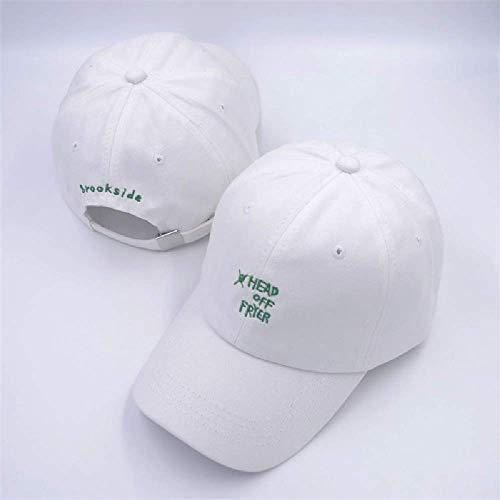 BDDLMM Friteuse Brief Stickerei Baumwolle Baseball Cap verstellbare Kappe für Männer und Frauen