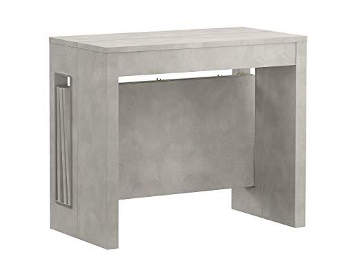 Iconico Home ZOOM, Tavolo consolle allungabile con 3 prolunghe fino a 182 cm, Ingresso, Soggiorno,...