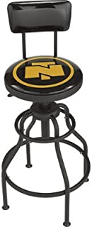 Northern Tool Adjustable Swivel Shop Stool with Backrest - Steel, 275-Lb. Capacity, 29 to 33in. Seat Height