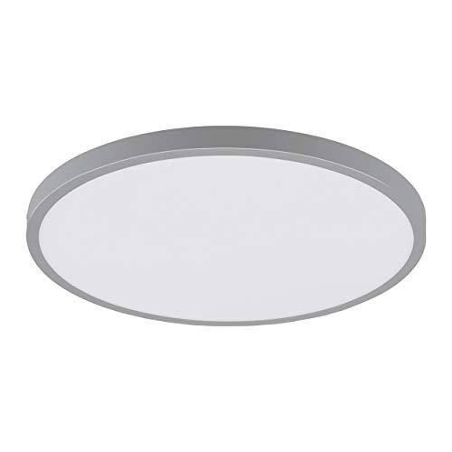 EGLO LED plafondlamp Fueva 1, 1 lamp plafondlamp, Ø: 40 cm, kleur: zilver, wit, neutraal wit, materiaal: aluminium, kunststof