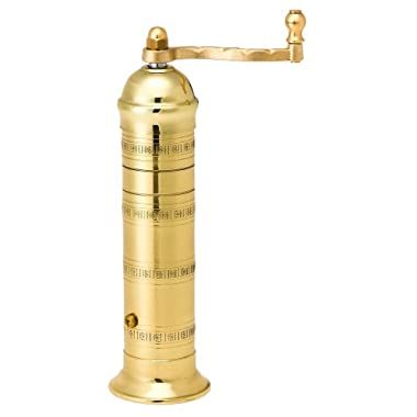 Pepper Mill Imports Atlas Pepper Mill, Brass, 8