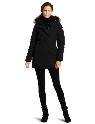 Canada Goose Women's Victoria Parka,Black,Large