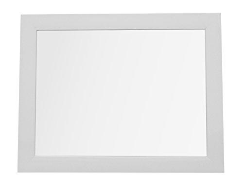 King Home S1710843 Specchio da Parete con Cornice, Bianco, 30X40H, altro