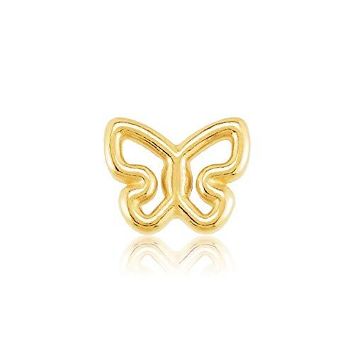 Home CNLXDSB Arete Crystal Butterfly Stud Pendientes para Mujeres Joyas de Boda 925 Pendientes inusuales de Plata esterlina Piercing para Mujeres niñas (Gem Color : 7 Gold)