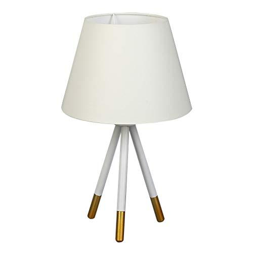 Lámpara de mesita de noche Simple moderna lámpara de mesa nórdica Dormitorio Escritorio Tela Cubierta de la lámpara Personalidad Lámpara de cabecera Botón Interruptor Negro Lámpara de mesa