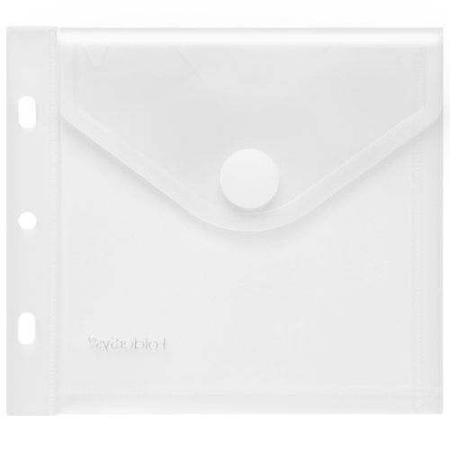 CD-/Booklet-Umschlag mit Abheftung, Klettverschluss, PP farblos transparent, 10 Stück