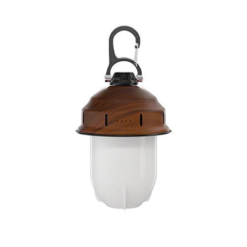 WCN Linterna LED Luces De Emergencia Portátil De La Carpa Eléctrica Lámpara De Camping Colgante para La Pesca De Lectura Al Aire Libre (Color : Brown1)