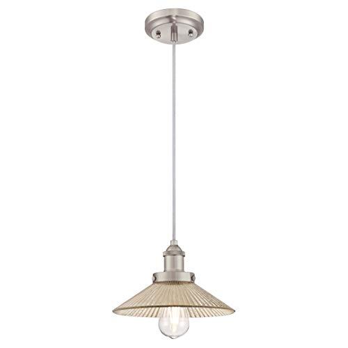 Westinghouse Lighting One-Light Indoor Pendant Lámpara de Techo, Níquel cepillado, 147 cm