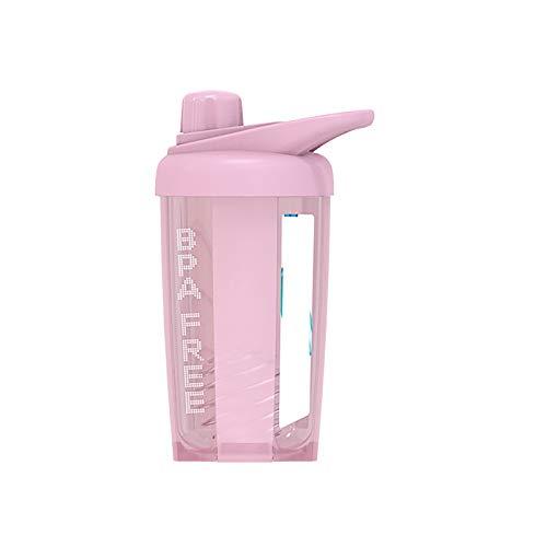 1 botella de agua reutilizable a prueba de fugas con mango rojo 500 ml