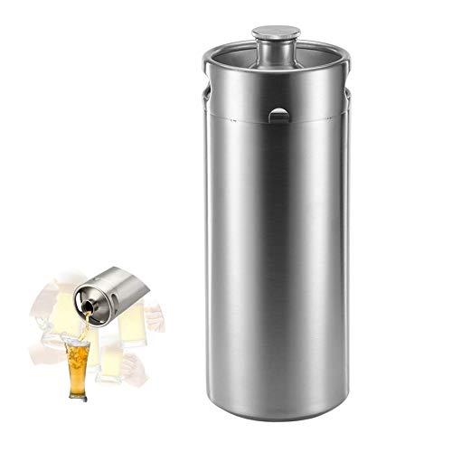 XYZZ 4L Edelstahl-Bierfässer, Riegelwerkzeug für die Hausbrauerei, hochwertiges und sicheres Material in Lebensmittelqualität, Rost- und Korrosionsschutz, Einschraubdeckel mit Dichtung
