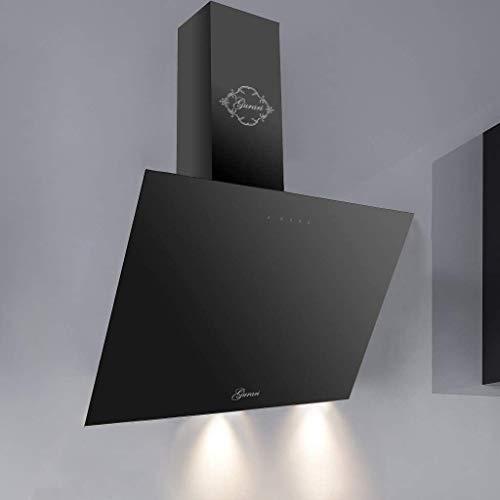 GURARI Head free hood GCH 286.6 Bl Prime, hotte aspirante 60 cm, verre noir, EEK A, 1000m³/h, télécommande, hotte murale