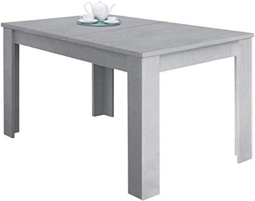 Tavolo Da Pranzo Allungabile Fino a 190 cm In Legno Toledo Tavolino Consolle Estensibile Salotto Salone Sala Pranzo Design Moderno Elegante 190 x 78 x 90 cm Colore Grigio Cemento