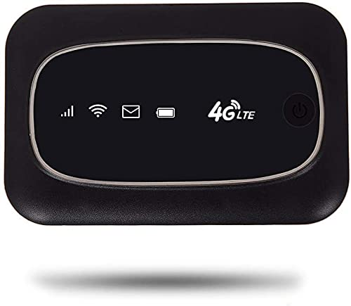 VSVABEFV 4G Mobile WiFi Hotspot Mini LTE Portable Router Multi-Devices Connection Support,Suitable for iPad、Laptop、TV、Cell Phone (Black)