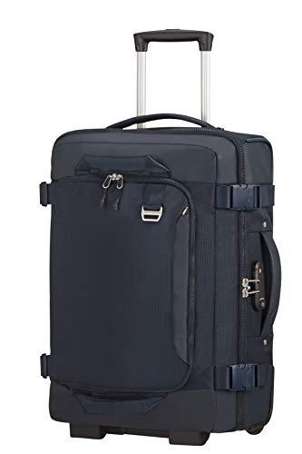 Samsonite Midtown - Bolsa de viaje/ Mochila con 2 ruedas, talla S (55 cm - 43 L), Azul (Dark Blue)