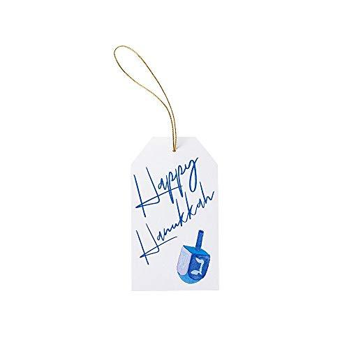 Caspari Happy Hanukkah Classic Foil Gift Tags - 12 Count