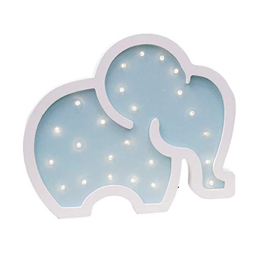 Cute Elefant LED Nachtlampen Holz Marquee Licht Zeichen Tischlampen Wanddekoration Mädchen Baby Zimmer Weihnachten Hochzeit LED Licht Zeichen