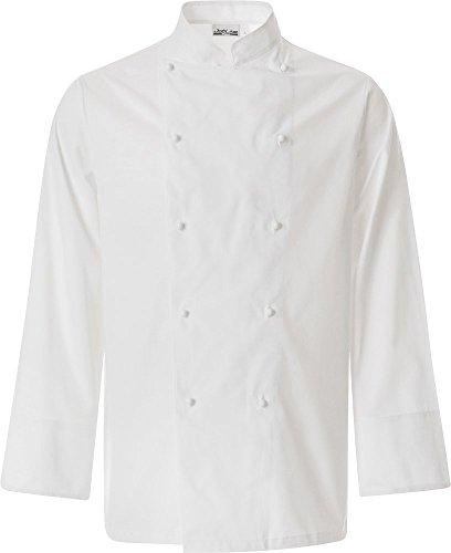 JOBLINE Chaqueta Chef Talla XXL Blanco Algodon 100%