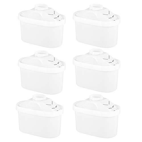 OhhGo Recharges de Remplacement de Cruche de Cartouches de Filtre à Eau 6Pcs Adaptées à L'équipement de Purificateur